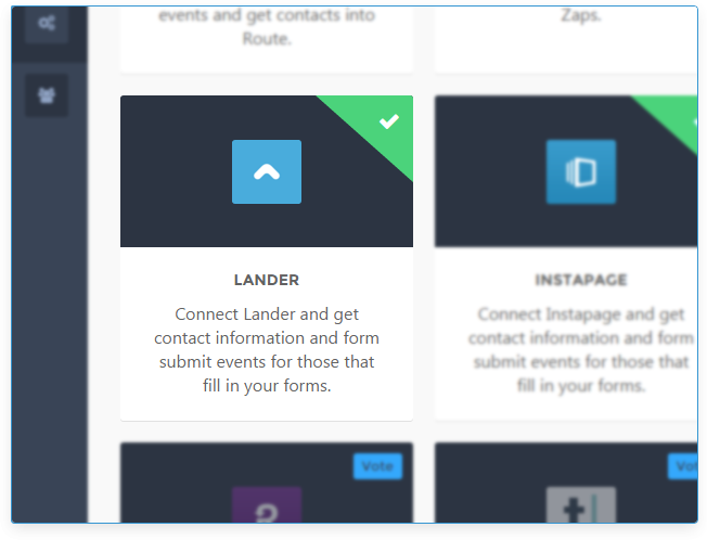 The Lander integration offered by Route.